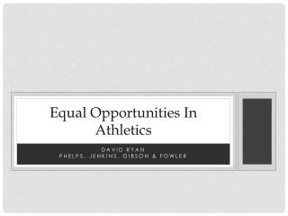 Equal Opportunities In Athletics