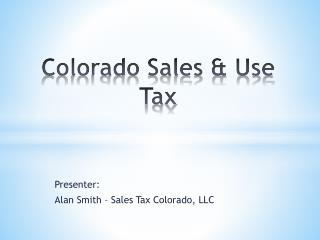 Colorado Sales & Use Tax