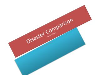 Disaster Comparison By Mihir Reddy