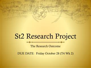 St2 Research Project