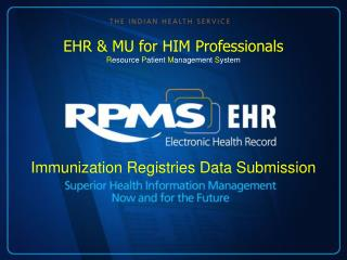 Immunization Registries Data Submission