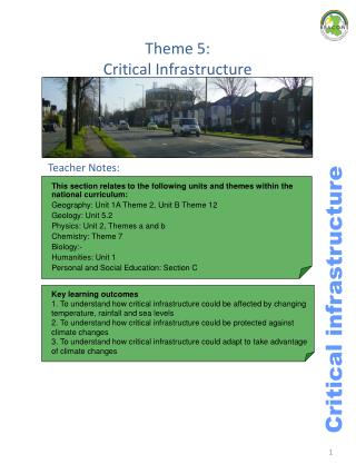 Theme 5:  Critical Infrastructure