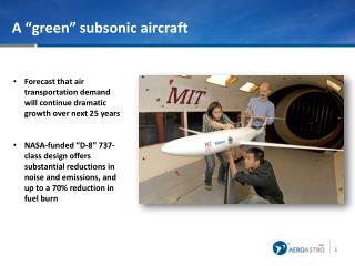 "A ""green"" subsonic aircraft"
