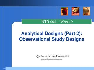 Analytical Designs (Part 2): Observational Study Designs