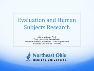 Evaluation and Human Subjects Research