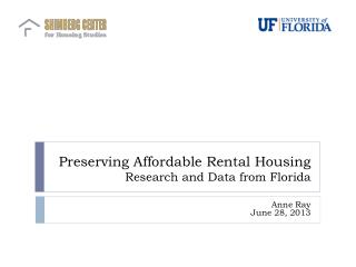 Preserving Affordable Rental Housing Research and Data from Florida