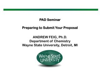 PAD Seminar Preparing to Submit Your Proposal
