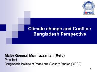 Climate change and Conflict: Bangladesh Perspective