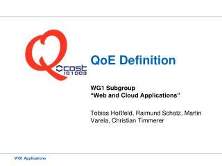 QoE Definition