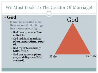 We Must Look To The Creator Of Marriage!