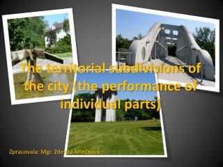 The territorial subdivisions of the city (the performance of individual parts)