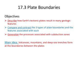 17.3 Plate Boundaries