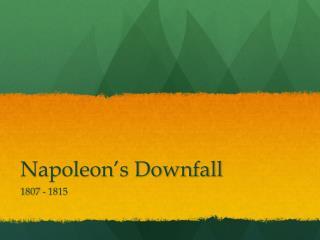 Napoleon�s Downfall