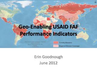 Geo-Enabling USAID FAF Performance Indicators