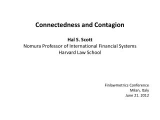 Finlawmetrics  Conference Milan, Italy June 21. 2012