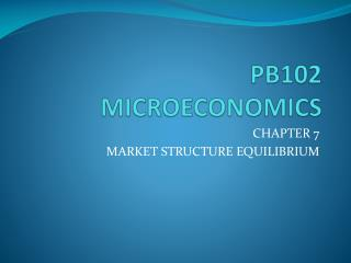 PB102  MICROECONOMICS
