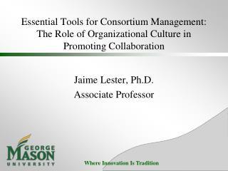 Jaime Lester, Ph.D. Associate Professor