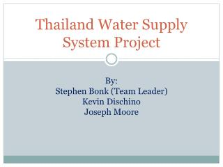 Thailand Water Supply System Project