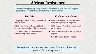 Even without modern weapons, other Africans still fiercely resisted European powers.