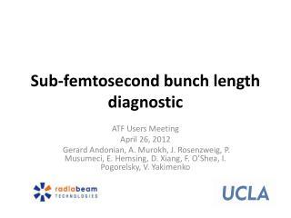 Sub-femtosecond bunch length diagnostic