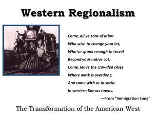 Western Regionalism