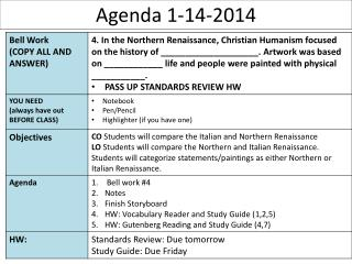 Agenda 1-14-2014