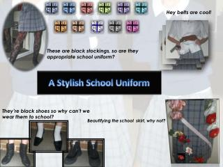 A Stylish School Uniform