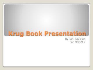 Krug Book Presentation