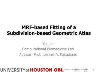 MRF-based Fitting  of  a  Subdivision-based Geometric  Atlas