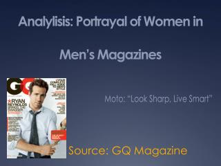 Analylisis : Portrayal of Women in Men's Magazines
