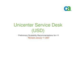 Unicenter Service Desk  USD