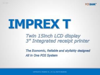 """Twin 15inch LCD display 3"""" Integrated receipt printer"""