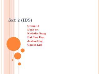 Sec 2 (IDS)