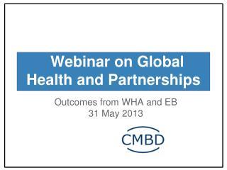 Webinar on Global Health and Partnerships