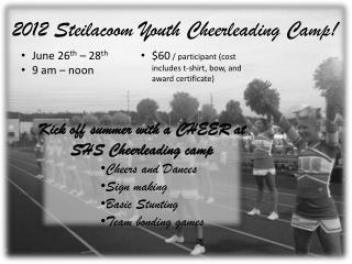 2012 Steilacoom Youth Cheerleading Camp!