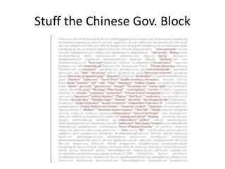 Stuff the Chinese Gov. Block