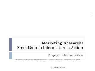 Marketing Research: From Data to Information to Action