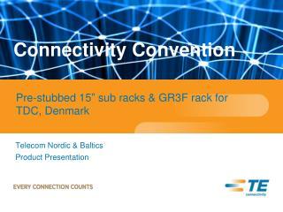 Telecom Nordic & Baltics  Product Presentation