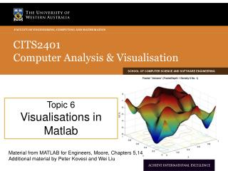 CITS2401  Computer Analysis & Visualisation