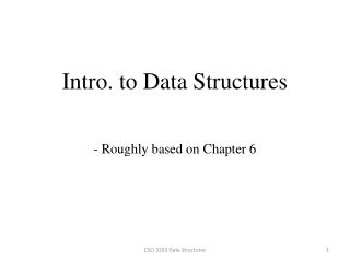 Intro.  to Data Structures