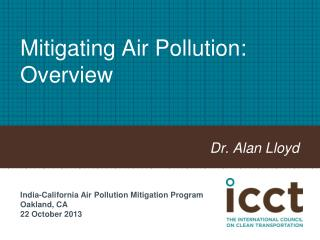 Mitigating Air Pollution: Overview