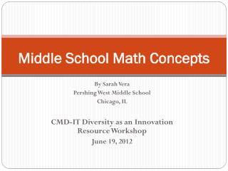 Middle School Math Concepts