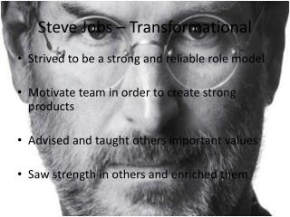 Steve Jobs – Transformational