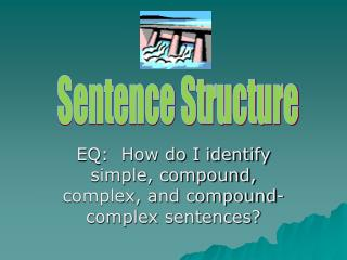 EQ:  How do I identify simple, compound, complex, and compound-complex sentences?