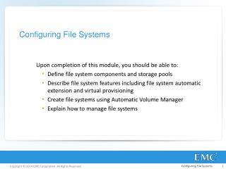 Configuring File Systems