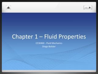 Chapter 1 – Fluid Properties