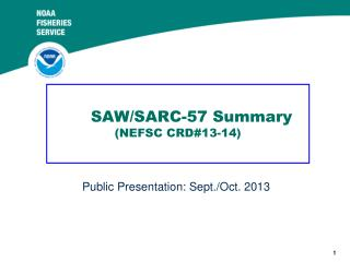 SAW/SARC-57 Summary (NEFSC CRD#13-14)