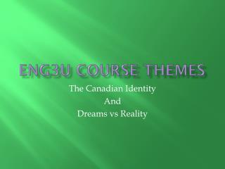 ENG3U Course Themes