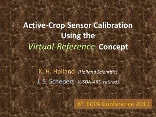 Active-Crop Sensor Calibration Using the  Virtual-Reference  Concept