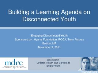 Building a Learning Agenda on Disconnected Youth